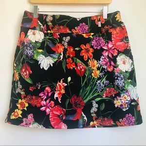 Bright Floral A-Line Mini Skirt